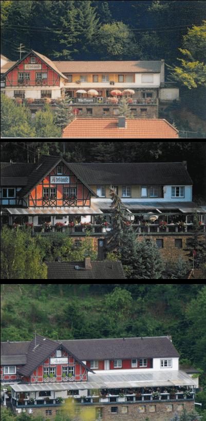 Die Panorama Pension Ahrklause Dernau im Wandel der Zeit von 1980 bis 2019.