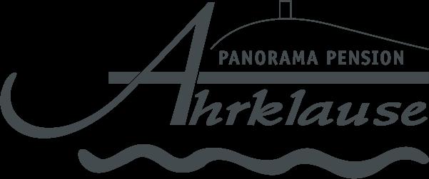 Freigestelltes Logo der Panorama Pension Ahrklause Dernau in grau.